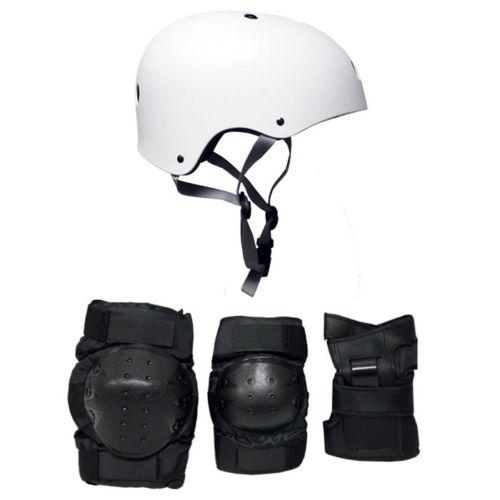 SixSixOne 661 Dirt Lid Skateboard BMX Helmet CPSC Certified with Knee Elbow Wrist Pads