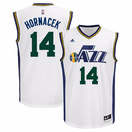 Jeff Hornacek Utah Jazz Nba Adidas Mens White Official Home Replica Jersey