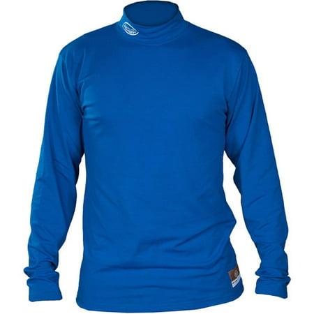 Louisville Slugger Adult Slugger Cold Weather Thermal Tech Long Sleeve Shirt, Royal