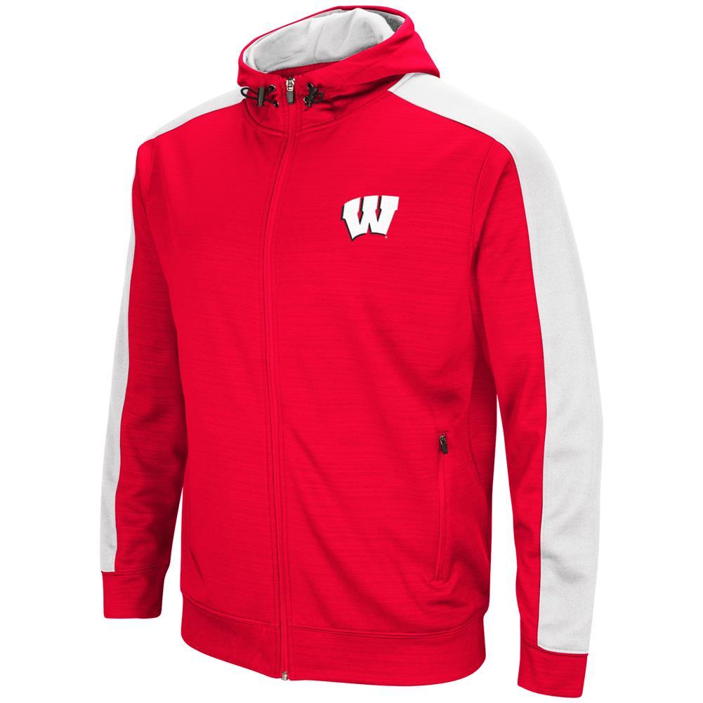 University of Wisconsin Badgers Performance Fleece Jacket Full Zip Hoodie