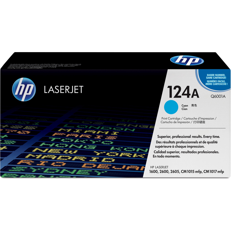 HP, HEWQ6001A, 124A LaserJet Toner Cartridges, 1 Each