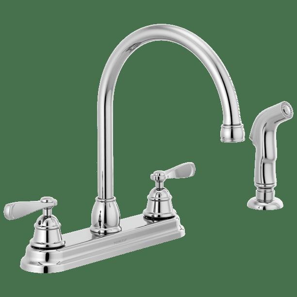 Peerless Two Handle Deck Mount Kitchen Faucet In Chrome Walmart Com Walmart Com