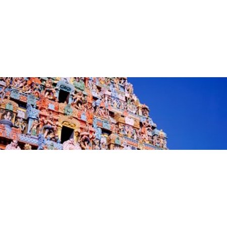 Low angle view of a temple Tiruchirapalli Tamil Nadu India Poster Print