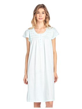 Product Image Casual Nights Women s Short Sleeve Smocked And Lace Nightgown  - Green - 3X-Large c8012274a