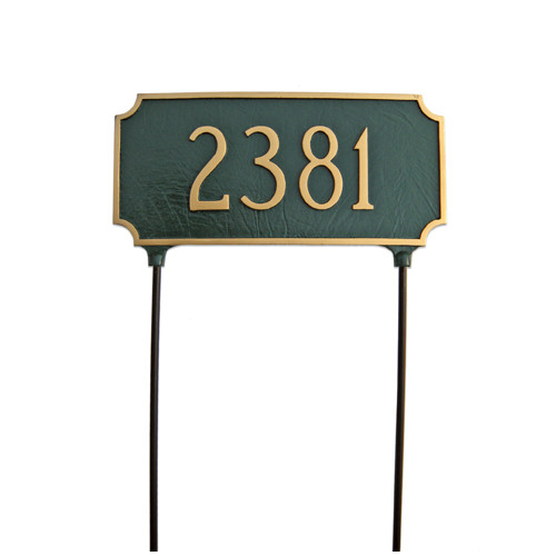 Montague Metal Products Inc. Princeton Two Sided Lawn Address Sign