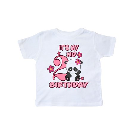 It's My Second Birthday with Panda Bear Toddler T-Shirt - Today It's My Birthday