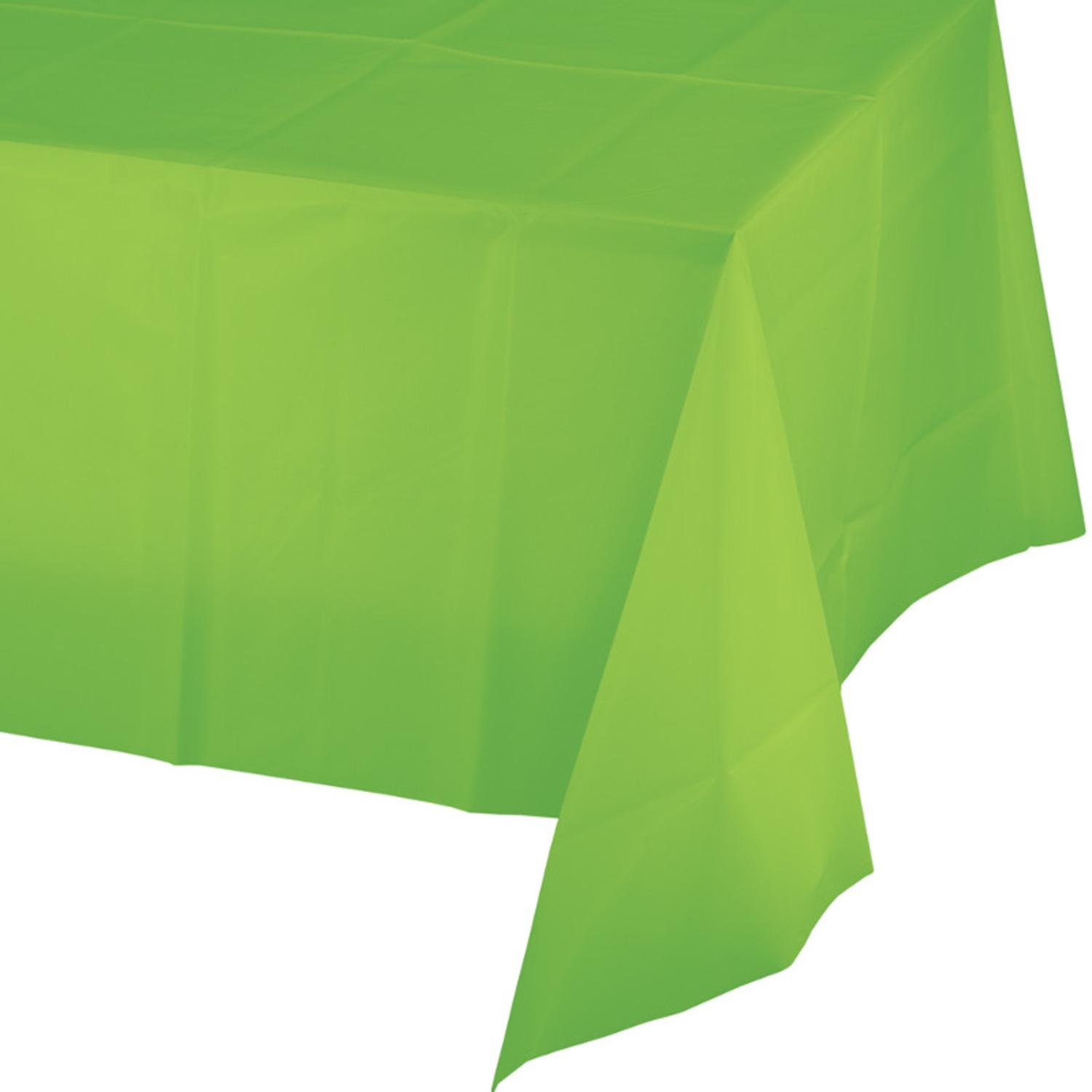 Club Pack of 24 Fresh Lime Green Disposable Plastic Banquet Party Table Covers 108