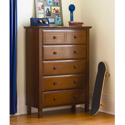 your zone zzz place to be 5-drawer chest, walnut