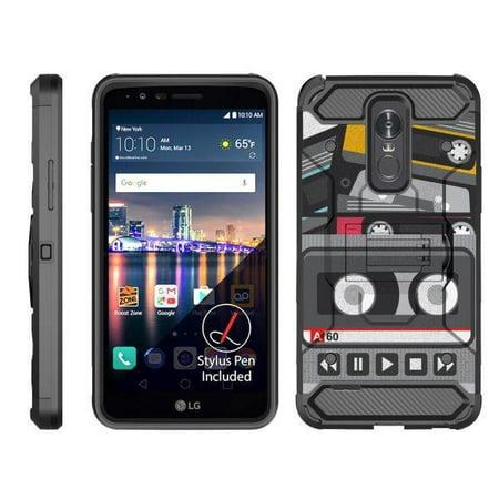 - TurtleArmor ® | For LG Stylo 3 | LG Stylus 3 | LG Stylo 3 Plus [Full Body Protection] Hybrid Kickstand Rugged Cover Holster Belt Clip Case - Old Cassette Player