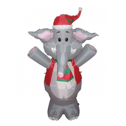 BZB Goods Christmas Inflatable Cute Standing Elephant Decoration