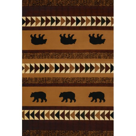 United Weavers Designer Contours Donna Sharp Woodcut Bear Toffee Mat Rug 2'7'' x