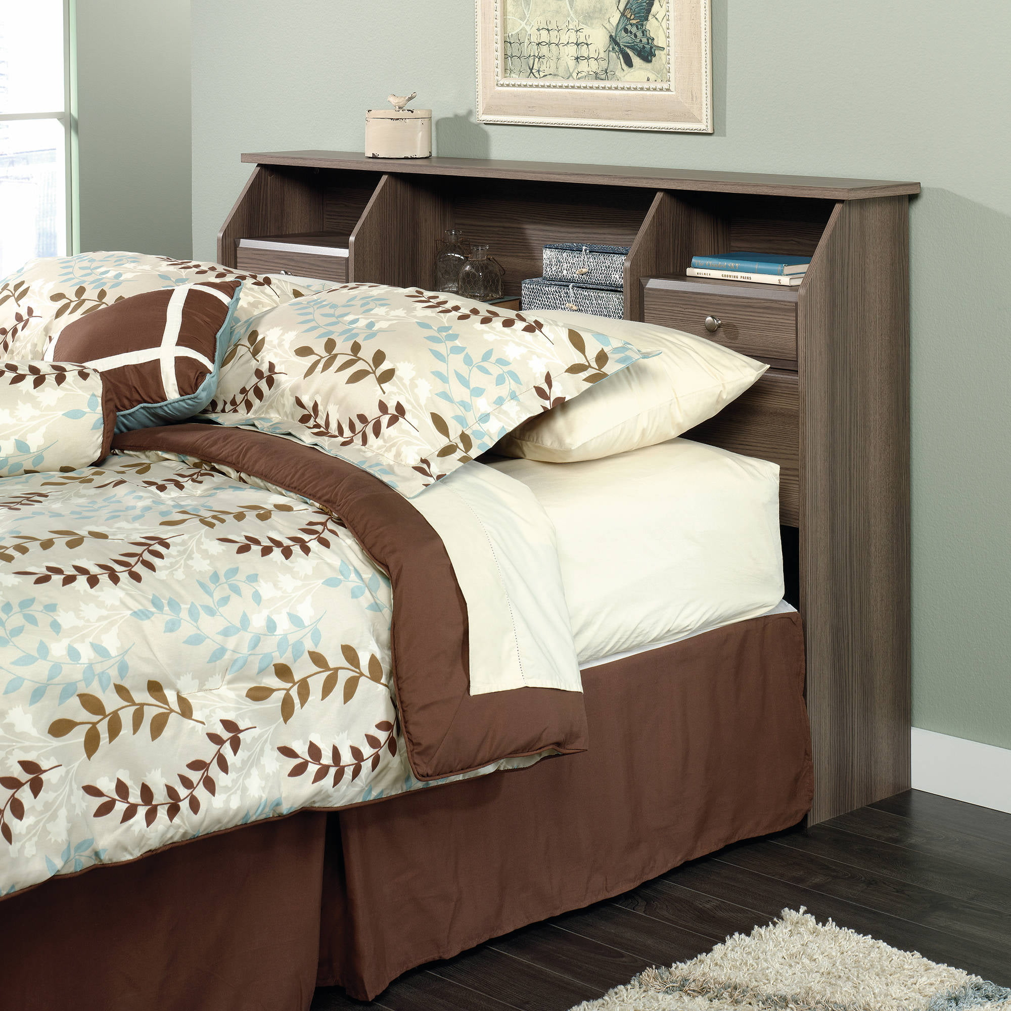 . Sauder Shoal Creek Full Queen Headboard  Diamond Ash   Walmart com