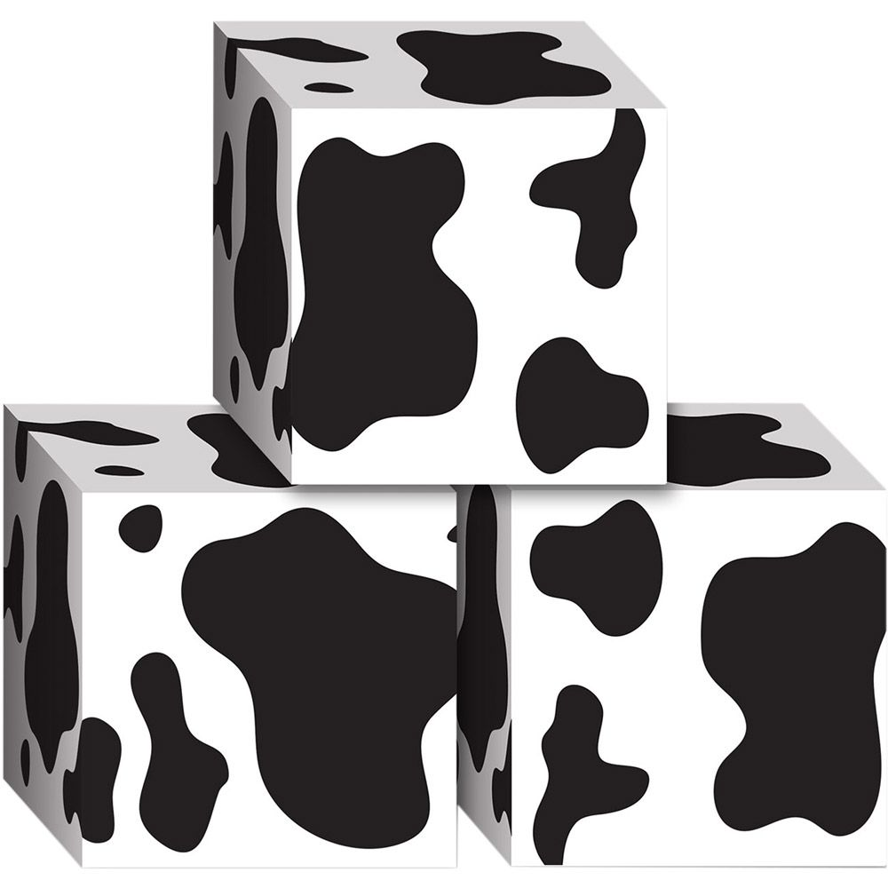 Cow Print Favor Boxes (3 Pack) - Party Supplies