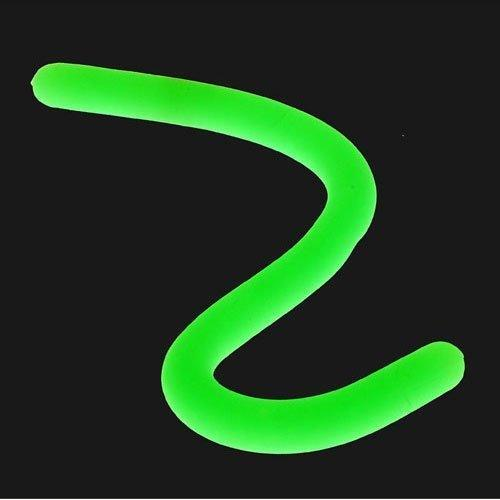 "One Stretchy 1/2"" Diameter Glow In The Dark Rubbery Stretchy ""Worm"" 12"" Long"
