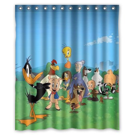 DEYOU Looney Tunes Characters Intimate Design Shower Curtain ...
