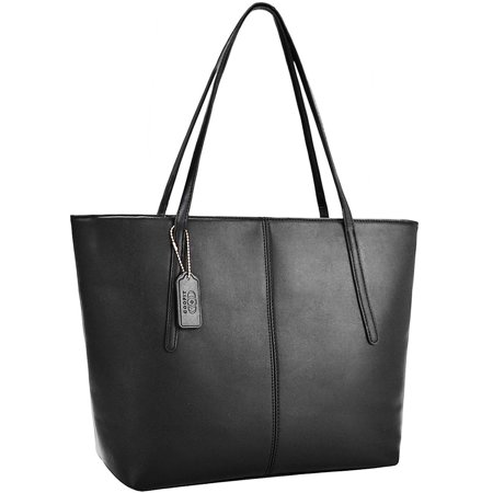 Coofit Fashion Handbag for Women Faux Leather Purse Tote Bag  Christmas Gifts for Women Girls Black - Gift Bags For Girls