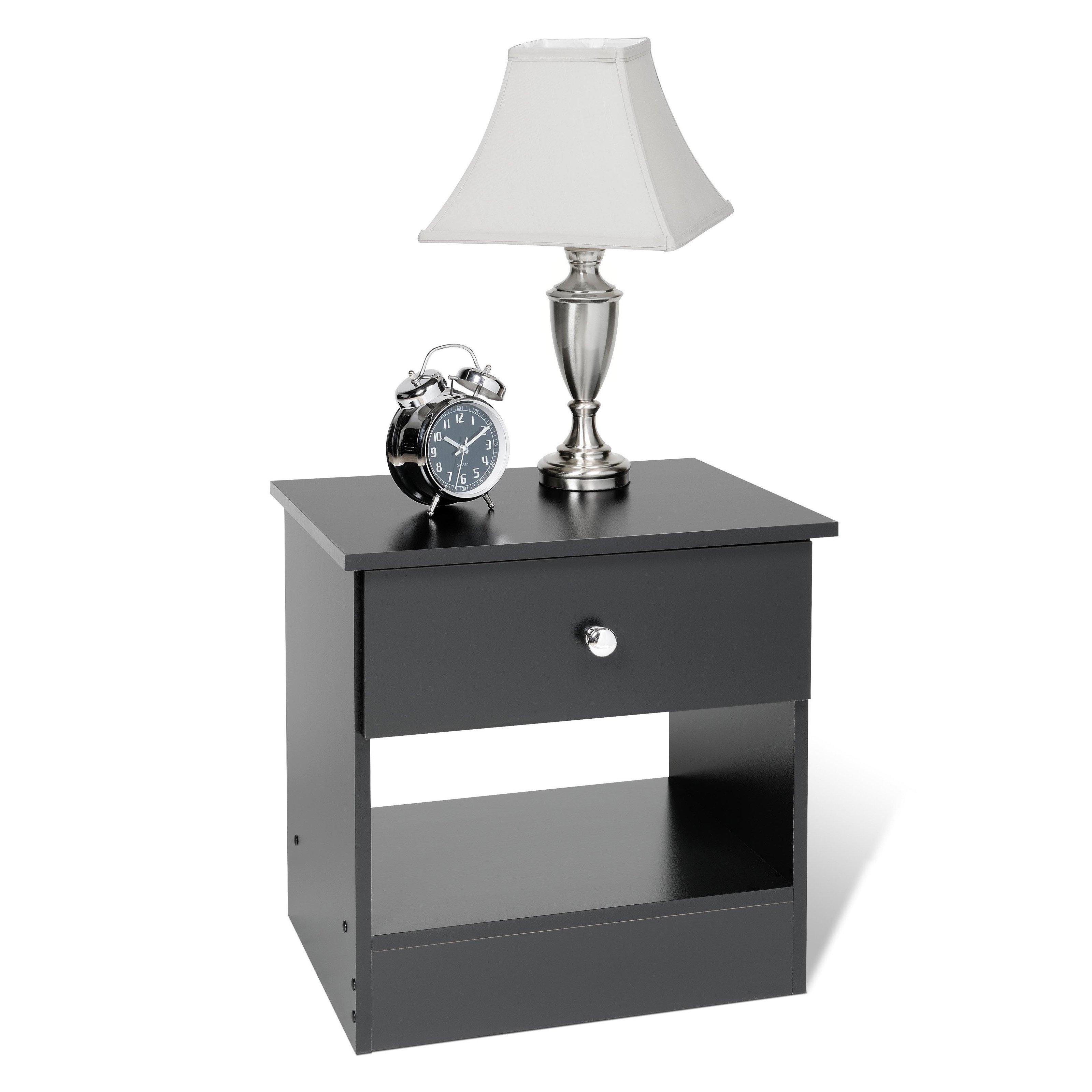 Prepac BEP-2020-1 Casual One Drawer Nightstand - Black