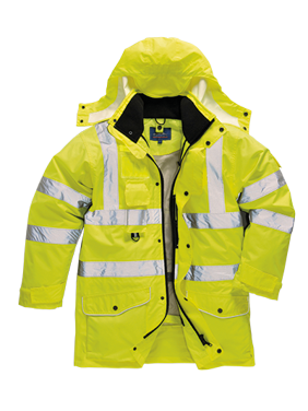 Portwest URT27ORRXXL HiVis 7in1 Traffic Jacket, Orange, Double Extra Large