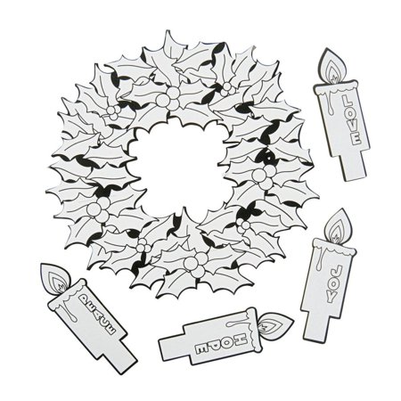 Color Your Own Advent Wreaths