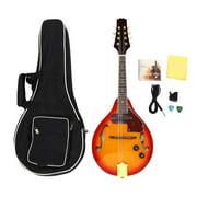 CHICIRIS Musical Instrument,8 String Mandolin Musical Instrument Sunburst A Style Acoustic Electric Mandolin, 8 String Mandolin