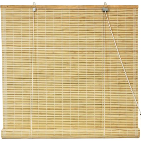 - Oriental Furniture Burnt Bamboo Roll Up Blinds