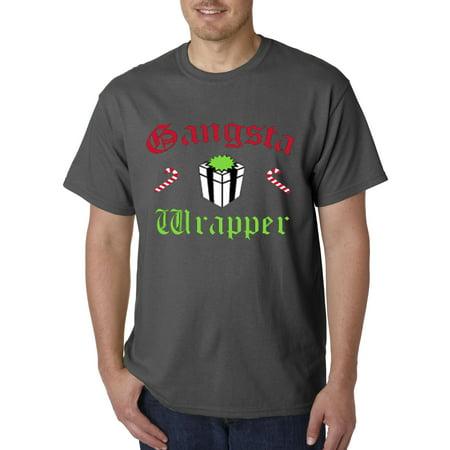 New Way 588 - Unisex T-Shirt Gangsta Wrapper Rapper Gift Candy Cane Christmas](Rapper Hair)