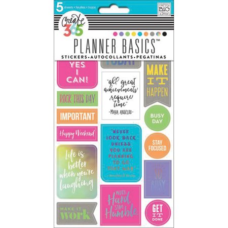 Create 365 Happy Planner Stickers 5 Sheets  Rock This Day  Neon
