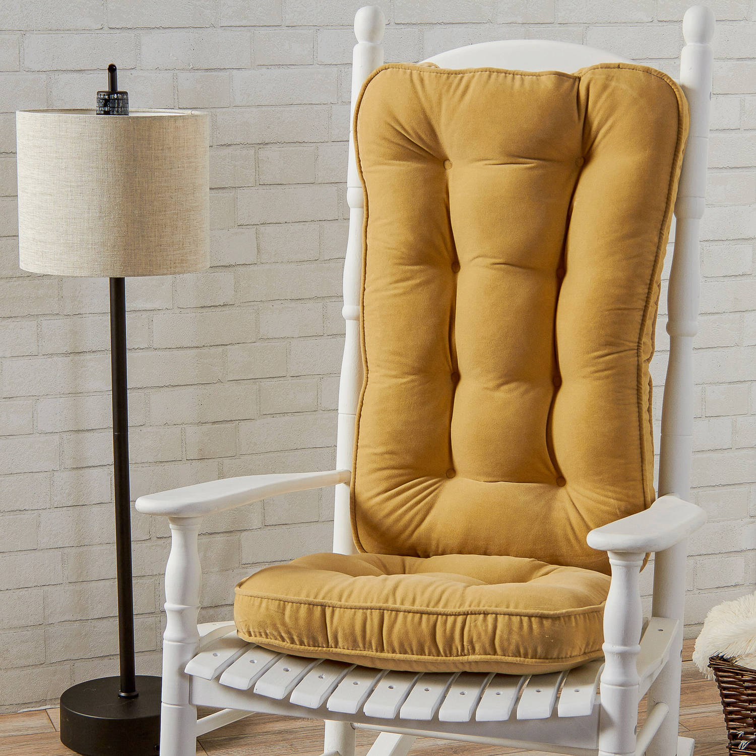 Hyatt Jumbo Rocking Chair Cushion Set Walmart
