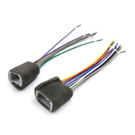 1 set car stereo cd player radio wiring harness adapter cable for toyota -  image 4