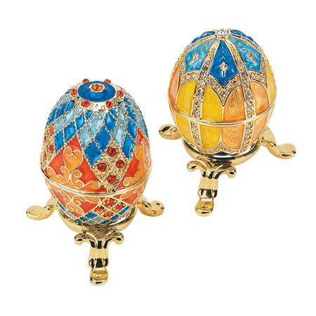 Design Toscano Grand Duchess Collection Romanov Style Enameled Eggs: Georgievna and Nikolaevna