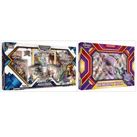 Pokemon Legends of Johto Premium GX Collection Box and Gengar EX Box Trading Card Game Collection Box Bundle, 1 of Each. Great Variety Gift Set For Boys or - Natural Gift Pokemon