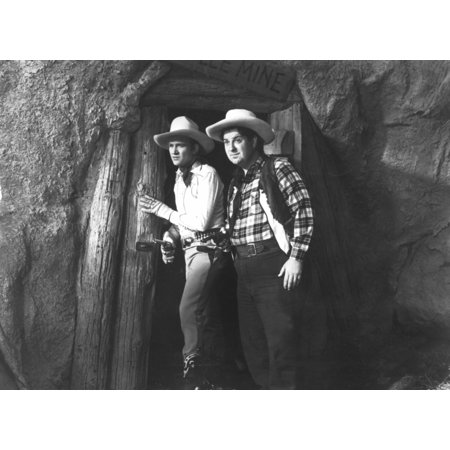 Print Music (Man From Music Mountain Gene Autry Smiley Burnette 1938 Photo Print)