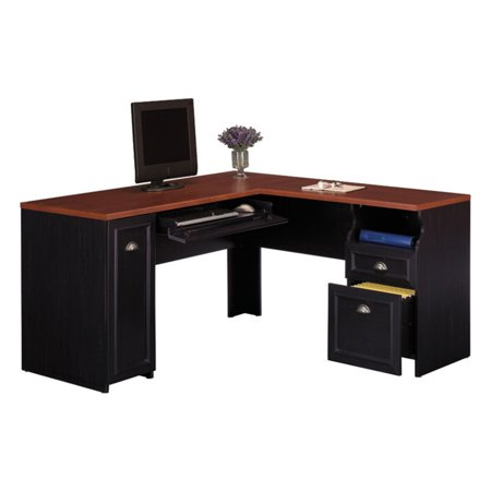 Bush Fairview Computer Desk and Optional Hutch in Antique Black - Bush Fairview Computer Desk And Optional Hutch In Antique Black