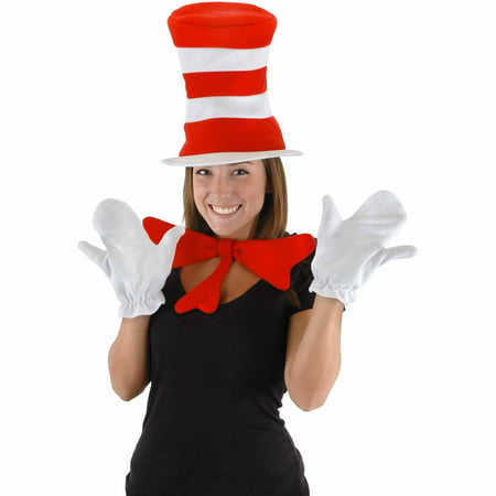 Dr. Seuss The Cat in the Hat Accessory Kit Adult Halloween Costume Accessory