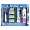 Gillette Venus Extra Smooth Platinum Women's Razor Holiday Gift Pack