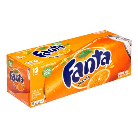 Fanta Orange Flavored Soda, 12 Fl. Oz., 12 Count