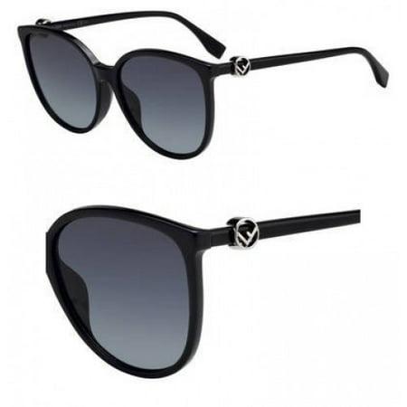 Sunglasses Fendi Ff 310 /F/S 0807 Black / 9O dark gray gradient lens