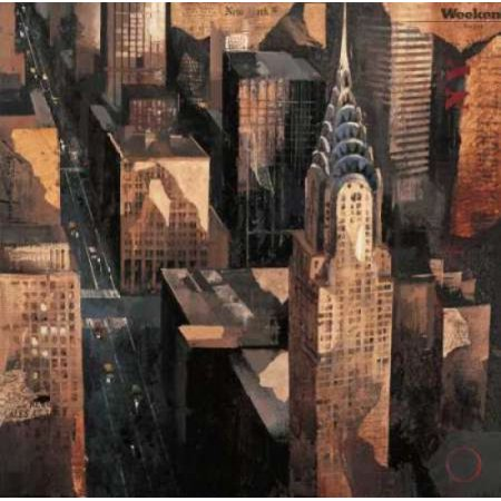 Chrysler Building View Canvas Art   Marti Bofarull  24 X 24