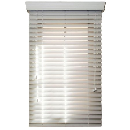 2 Inch Blinds Walmart.Faux Wood Blinds 2 Inch Horizontal Slats Custom Made Outside Mount Snow White Smooth From 37 Wide To 96 Long The Size Of This Blind Is 38 W X