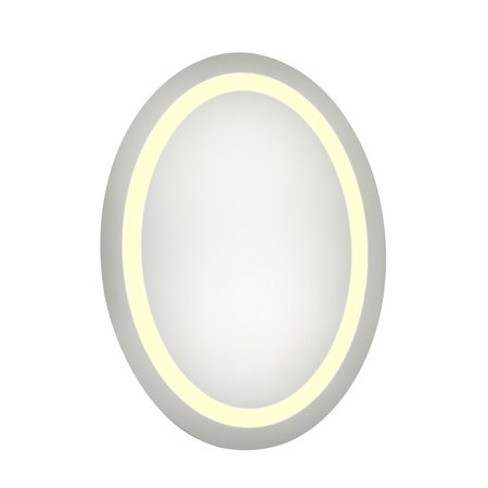 Elegant Furniture & Lighting Oval LED Wall Mirror