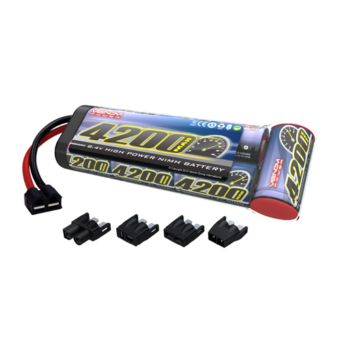 Venom 8.4v 4200mAh 7-Cell NiMH Battery Flat Pack with Universal Plug System Multi-Colored