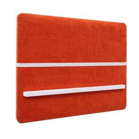 Benzara BM190198 Fabric Draped Rectangular Memo Board with Wood Backing Board - Orange - 23.75 x 2 x 18 in. (Orange Fabric Memo Board)