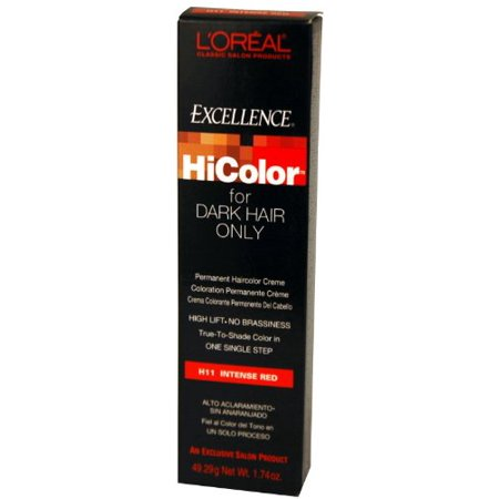 LOreal Excellence HiColor Hair Color - Intense Red 1.74 oz. (Pack of (Excellence Intense Whitening Essence)