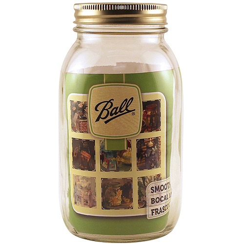Ball Art Smooth Jar, Regular Mouth, 1 qt, 12-pack