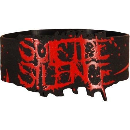 Suicide Silence Men's Logo Rubber Bracelet Black (Rubber Bracelet)