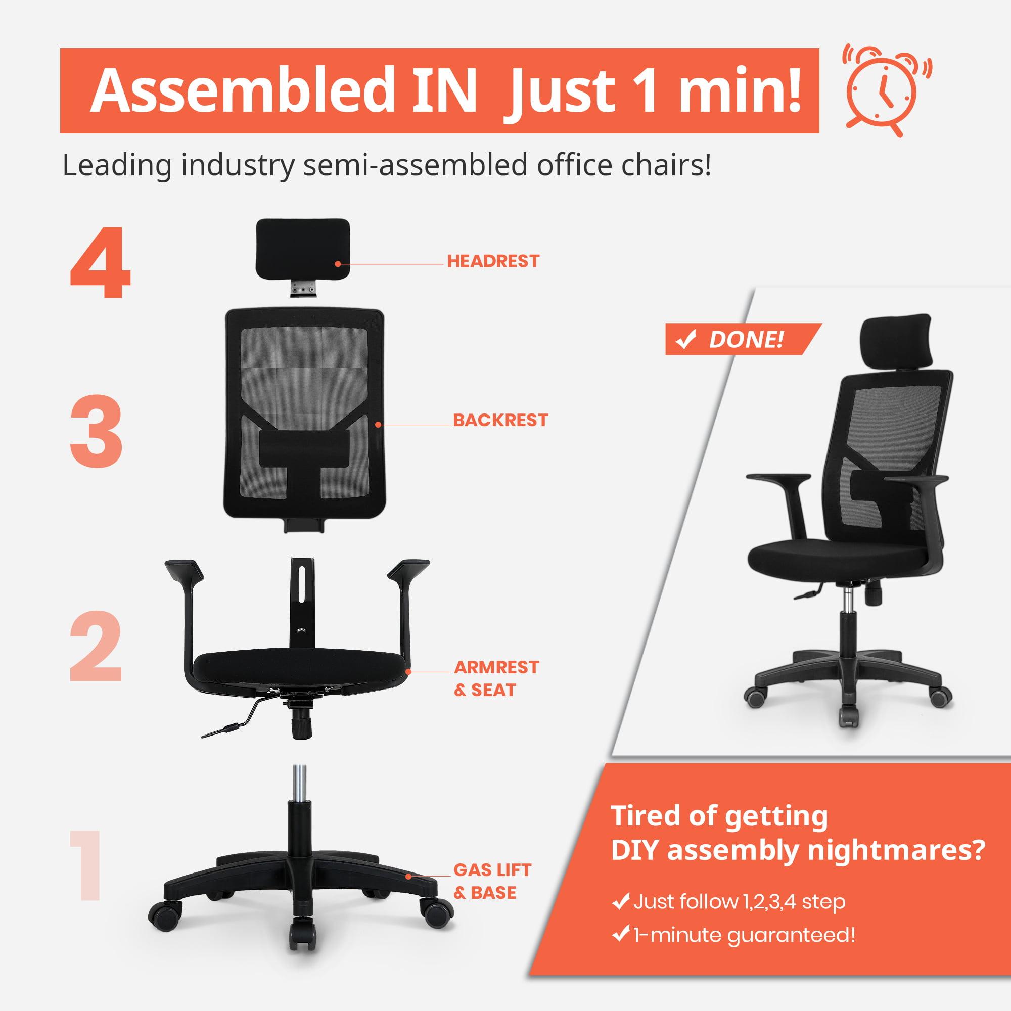 Neo Chair Light Mesh Office Chair Black Ms M10 Bk Walmart Com Walmart Com