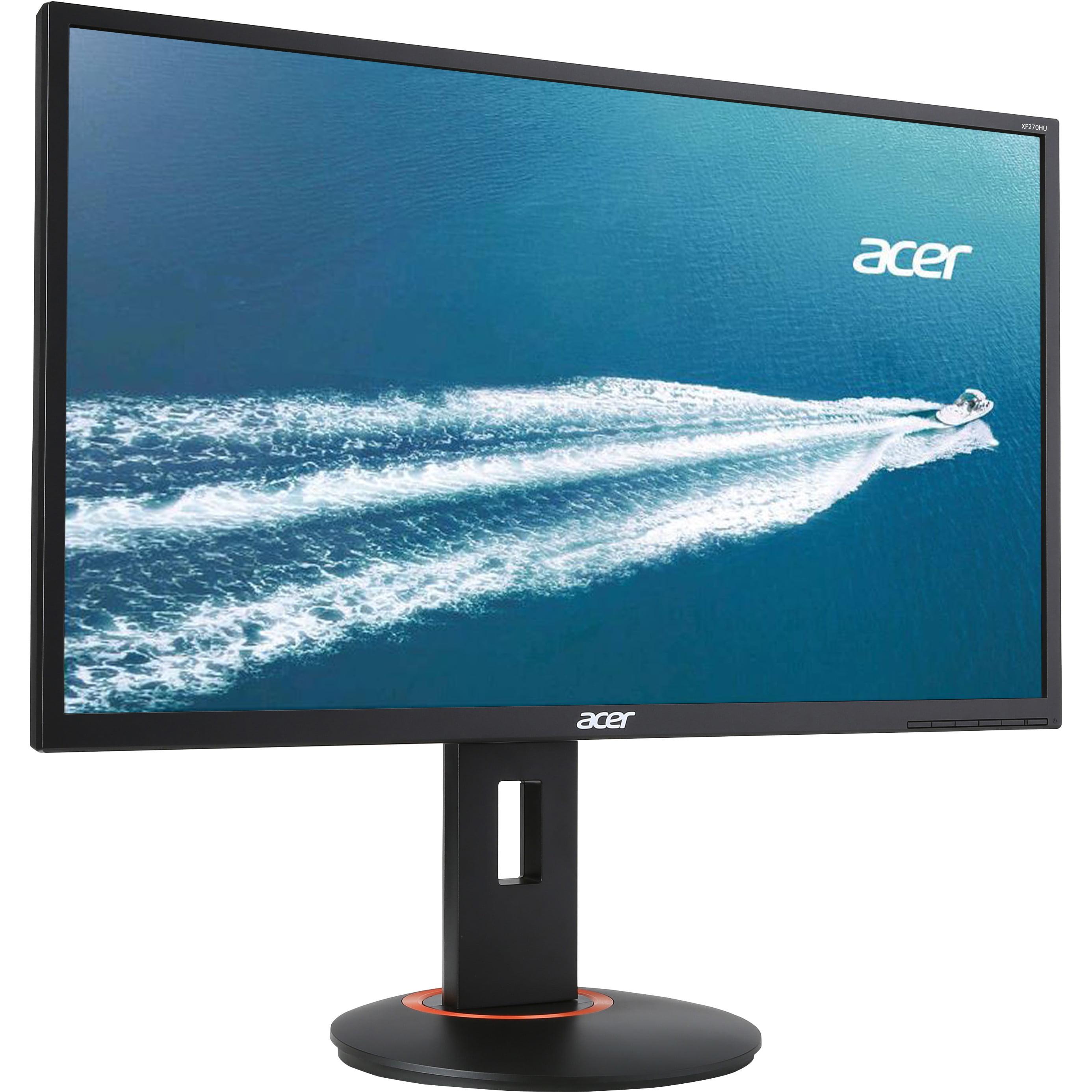 "Acer 27"" Widescreen LCD Monitor Display WQHD 2560 x 1440 4 ms XF270HU ABMIIDPRZX   Manufacturer Refurbished"