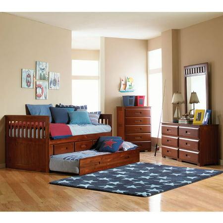 Cambridge Hillcrest Trundle Storage Bed Merlot