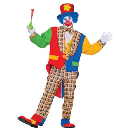 Halloween Town Revisited (Yellow and Red Clown on the Town Unisex Adult Halloween Costume - One)