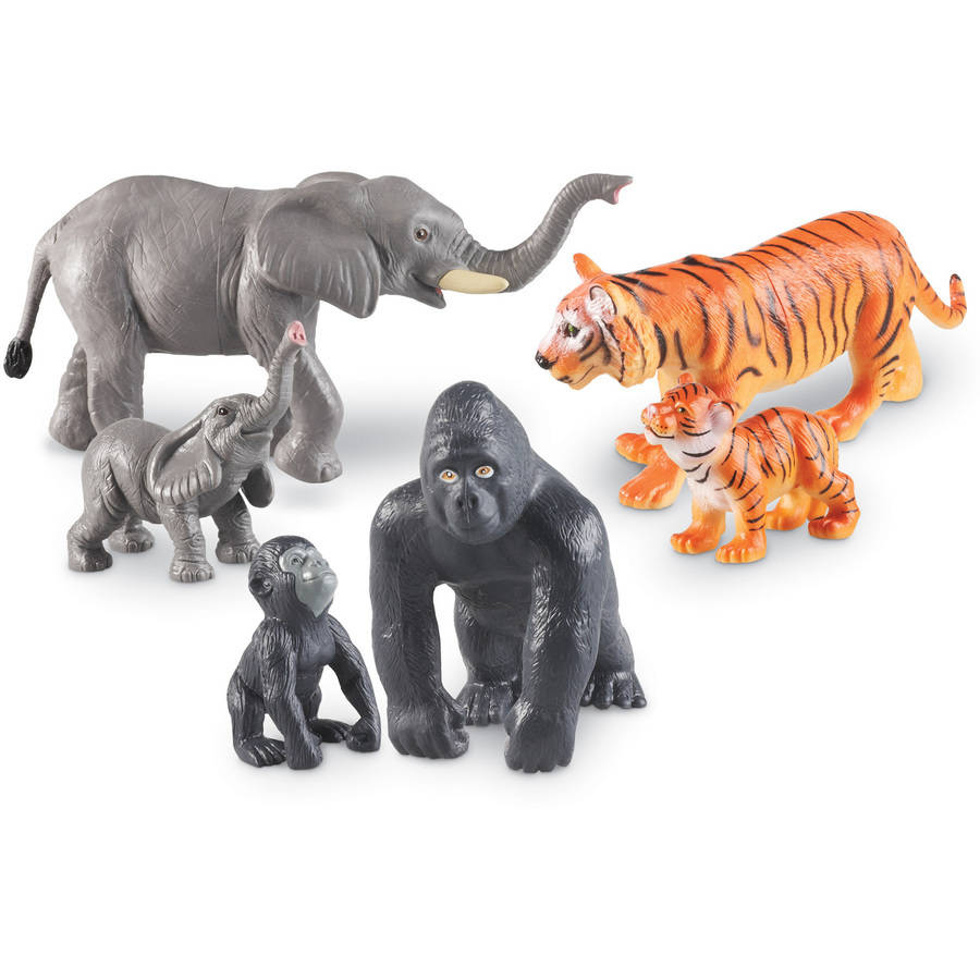 Learning Resources Jumbo Jungle Animals: Mommas and Babies by Learning Resources